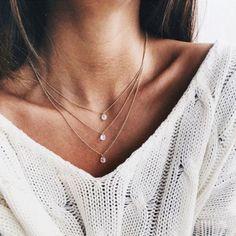 Damen Halskette 3-layer Strass Gold Kette Choker Blogger Vintage Körperschmuck | eBay