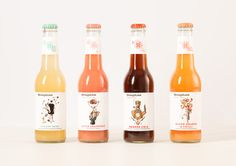 Packaging featuring illustration by Randy Mora and designed by Marx Design for Australian soft drink brand StrangeLove