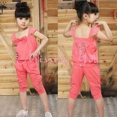 Aliexpress.com : Buy Hot Fashion Korean Style Kids Clothing Set Girls Summer Suits 2pcs Set with Bowknot, Free Shipping GS003 from Reliable Kids Clothing suppliers on Missing You