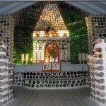 02 Capilla con botellas de vidrio - Casas con botellas Construcciones ecologicas