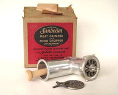 Sunbeam Mixmaster Meat Grinder Attachment FW6A by LaurasLastDitch, $42.99