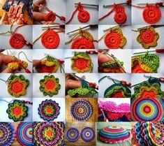 Todo crochet: Cómo tejer una flor de capas superpuestas paso a paso