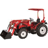 NorTrac 35XT 35 HP 4WD Tractor with Front End Loader — With Ag. Tires