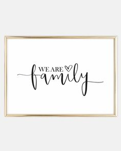 We are family, Poster #favourites Scandinavian Wall Art | Handlettering | Glück | Zitate | Cute Quote | Sprüche Poster | Familie | We are family | Postershop | Tales by Jen | www.talesbyjen.com