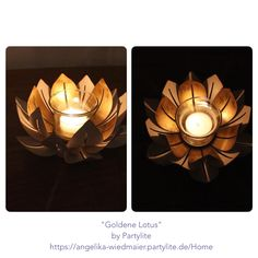 """Goldene Lotus"" (Foto: Claire Radwinski) https://angelika-wiedmaier.partylite.de/Home"