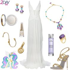 Princess Celestia Outfit - My Little Pony - 2DayBit http://2daybit.wordpress.com/2014/08/13/princess-celestia-outfit-my-little-pony/  Ladies and Gentlemen, her highness Princess Celestia is stepping on the scene! She is the wise and balanced ruler of Equestria and all the ponies know that she creates light by rising the sun every morning.  #bulgari #collistar #robertocavalli #caovilla #mylittlepony #princesscelestia #mlp
