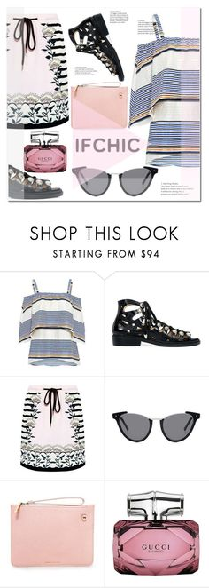 """""""Ifchic"""" by ilona-828 ❤ liked on Polyvore featuring Tanya Taylor, Toga, Markus Lupfer, AG Adriano Goldschmied, Karen Walker, Gucci, StreetStyle, Summer, polyvoreeditorial and summersale"""