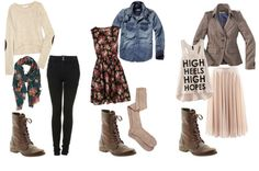 I like the first two with the combat boots and certain pieces of the last but not together.