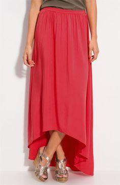 Asymmetrical Circle Hem Maxi Skirt