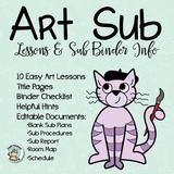 This packet of editable documents, easy art lessons, and sub binder organizers will help get you on the way to worry-free art sub plans. Imagine preparing for a