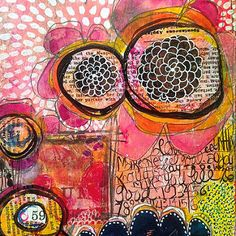 Art journaling over gelli prints | by Rae Missigman