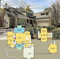 Architectural Designs House Plan 15224NC has 3 beds   3 baths   2,600+ square feet of heated living space. Ready when you are. Where do YOU want to build? #15224nc #adhouseplans #architecturaldesigns #houseplan #architecture #newhome #newconstruction #newhouse #homedesign #dreamhouse #homeplan #architecture #architect #houses #traditional
