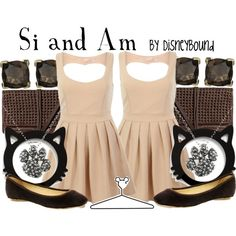 Si and Am (Lady and the Tramp ~siamese cats~) outfit