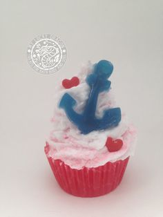 Anchor, Sailor, Rockabilly, Navy, Soap Cupcake