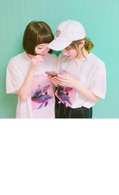 [UNISEX ] 핑크 돌고래 반팔티 - 러브앤드팝