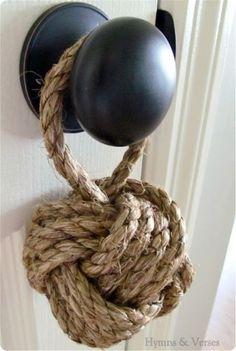 décoration, décoration de porte, DIY, noeud nautique