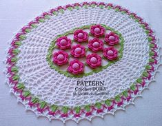 Pattern Crochet doily Oval table Floral Lacy doily book pdf | Etsy Crochet Doilies, Crochet Flowers, Crochet Stitches, Crochet Patterns, Round Table Centerpieces, Oval Table, Modern Crochet, Table Flowers, Bridal Shower Gifts