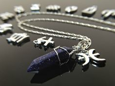 A personal favorite from my Etsy shop https://www.etsy.com/listing/275240002/zodiac-necklace-crystal-necklace-galaxy