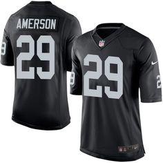 Nike Limited David Amerson Black Men's Jersey - Oakland Raiders #29 NFL Home