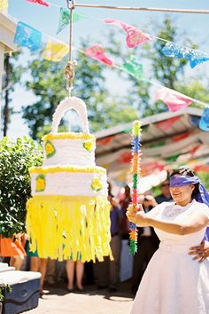 Add some colour and fun into your wedding with a piñata!