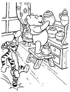 Hard Coloring Pages   winnie the pooh with tigger coloring page coloring free printable the ...