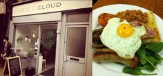 #food in 'London, Long White Cloud, we recommend the veggie breakfast; #design #bar