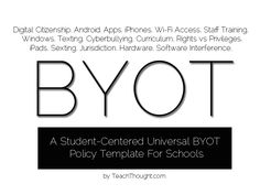 A student-centered universal BYOD policy template for schools