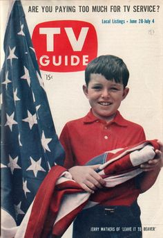 I grew up with the Beav on TV!) Beaver Cleever on the cover of TV Guide for of July 1958 week as it transitions toward it's season - it was a hit show right out the door the first season in Jerry Mathers, Leave It To Beaver, Vintage Television, Television Tv, Tv Services, Vintage Tv, Vintage Magazines, Tv Land, Old Tv Shows