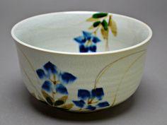 Shousen Bowl Kashibachi. Japanese Vintage Pottery. Tea