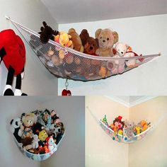 Temperate New Hanging Organizer Kids Toy Storage Net Stuffed Plush Doll Hammock Save Space Handsome Appearance Mother & Kids Activity & Gear