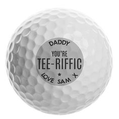 Personalised Golf Ball - Tee-riffic Gifts For Sports Fans, Golf Ball, Personalized Gifts, Tees, Lovers, Characters, Note, Fun, Products