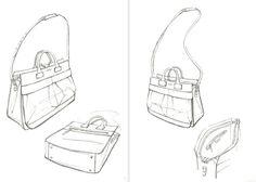 Handbag Sketches Design sketches handbags