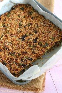 Superfood Oatmeal Bars {Gluten Free and Refined Sugar Free} - NotEnoughCinnamon.com