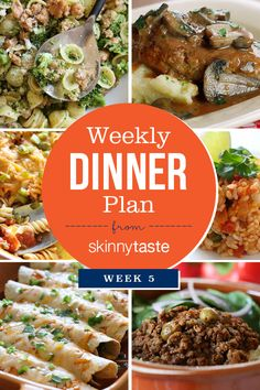 Skinnytaste Dinner Plan (Week 5)