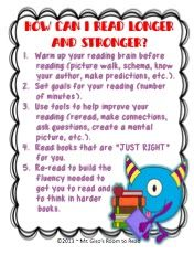 Giso's Room to Read: Raise That Reading Stamina! Reading Fluency, Reading Strategies, Teaching Reading, Reading School, Reading Tips, Guided Reading, Teaching Tools, Teaching Ideas, Building Reading Stamina