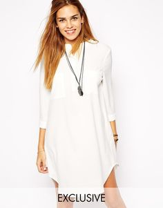 Glamorous Long Sleeve Shirt Dress