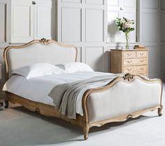Sandbanks Natural 5ft Kingsize Upholstered French Bed