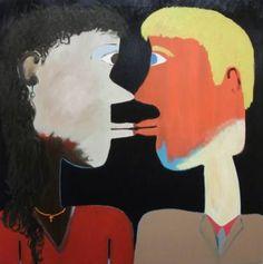 "Saatchi Art Artist Stuart Ridley; Painting, ""THE KISS"" #art"