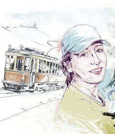 Walk (Portrait) by Anna Ulyashina - illustrator, via Behance
