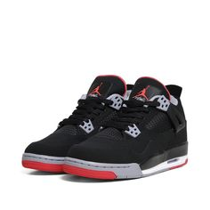 Nike Air Jordan IV Retro G.S.  Black, Fire Red & Cement Grey if you don't have a pair of these, then you wished you did. No Lie! One of the most demanded shoes ever.