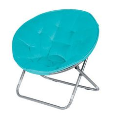 Microsuede Saucer Chair  Blue