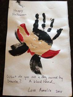 Handprint vampire card