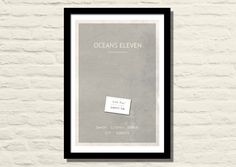Oceans Eleven Movie Poster, Art Print, 11 X 17, Minimalist Poster, Home Decor by LiltDesignCompany on Etsy https://www.etsy.com/listing/161956736/oceans-eleven-movie-poster-art-print-11