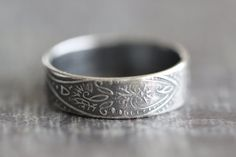 SPRING SALE Paisley Ring, Wedding Band, PAISLEY, Mens Ring, Promise Ring, His and Hers. Rustic, Wedding Ring, Engagement Ring, Wide Band, We