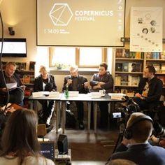 Kopernikański przewrót w festiwalach Konferencja Prasowa 30.04.2014. Kraków de Revolutionibus Books&Cafe