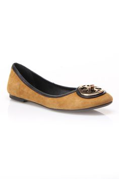 Tory Burch Soft Suede Flats.
