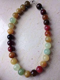Necklace: multicolor agate. balmes.roxana@gmail.com