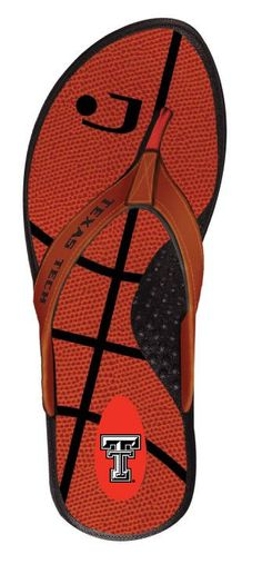 Texas Tech Red Raiders Basketball Flip Flops