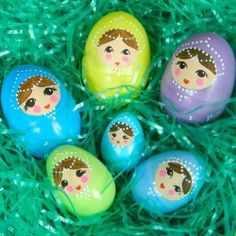 Make these nesting Easter eggs with just a little bit of Americana Acrylic paint.