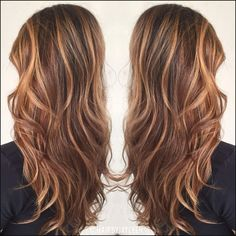 Brown hair color, caramel highlights, caramel balayage, warm brown ... | Einfache Frisuren
